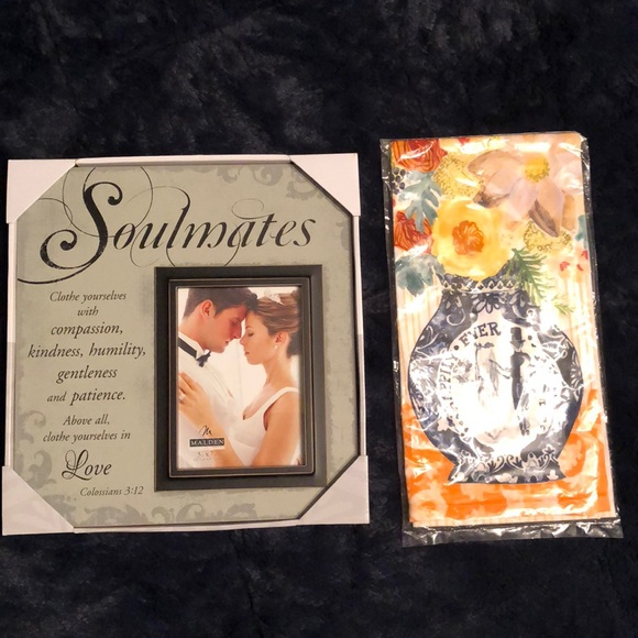 wedding gift frame and tea towel poshmark